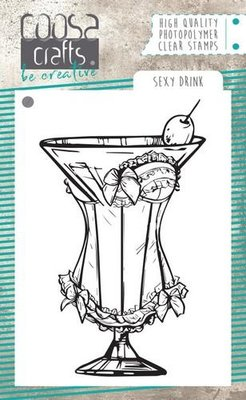 COOSA Crafts clearstamps A7 - Sexy Drink A7 COC-066