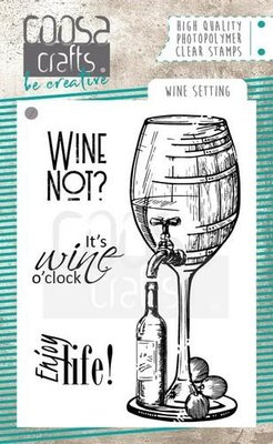 COOSA Crafts clearstamps A7 - Wine setting COC-063