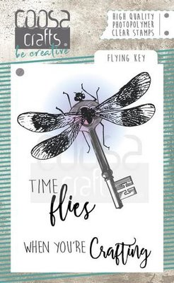 COOSA Crafts clearstamps A7 - Flying Key COC-053