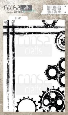 COOSA Crafts clearstamps  A6 -  Gears COC-046