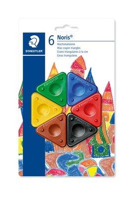 Staedtler - Noris Club - Was krijt driehoek - Blister 6 stuks