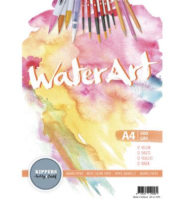 Water Art – Aquarel Papier 12 sheets / A4 / 300 grs