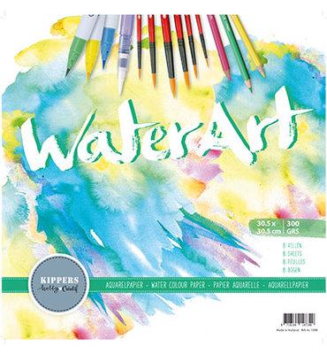Water Art – Aquarel Papier 8 sheets / 30.5 x 30.5cm / 300 grs