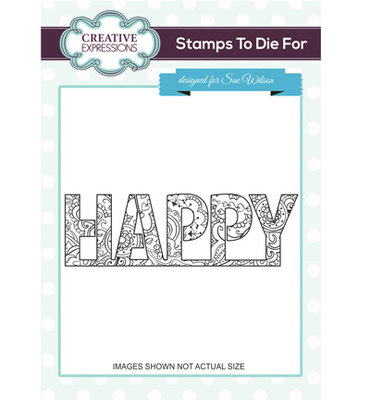 UMS684 Creative Expressions – Stamps to die for Happy Hearts & Flower
