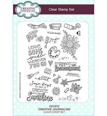 CEC873 Creative Expressions – Clear Stamp Set - Creative Journaling