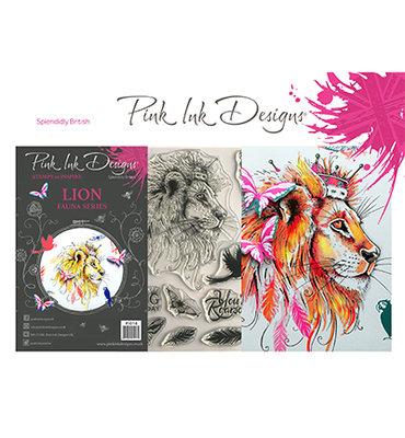 PI018 Pink Ink Designs – A5 – Clear Stamp – Lion