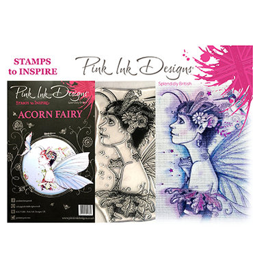 PI010 Pink Ink Designs – A5 - Clear Stamp – Set Acorn Fairy