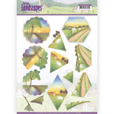 CD11292 3D knipvel - Jeanine's Art - Spring Landscapes – Sunset