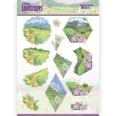 CD11293 3D knipvel - Jeanine's Art - Spring Landscapes - Mountains