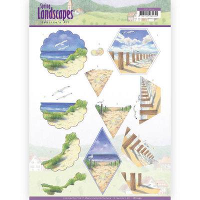 CD11295 3D knipvel - Jeanine's Art - Spring Landscapes - Beach