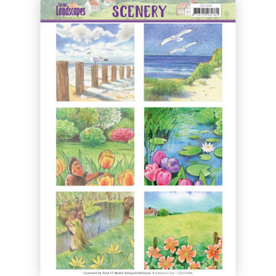 CDS10008 Die Cut Topper - Scenery  Jeanines Art - Spring Landscapes 1