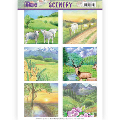 CDS10009 Die Cut Topper - Scenery  Jeanines Art - Spring Landscapes 2