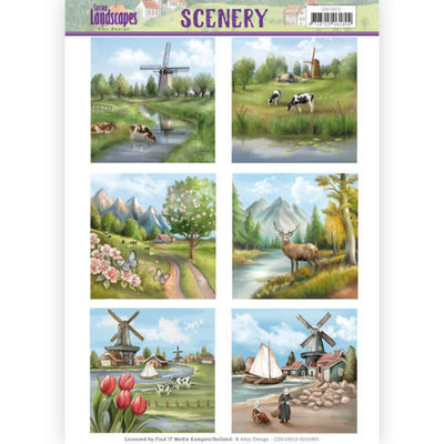 CDS10010 Die Cut Topper - Scenery - Amy Design - Spring Landscapes 1