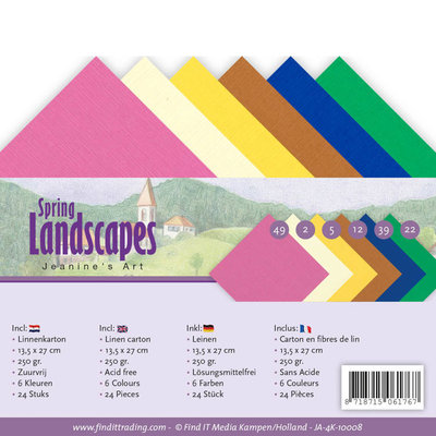 JA-4K-10008 Linnenpakket - 4K- Jeanines Art - Spring Landscapes