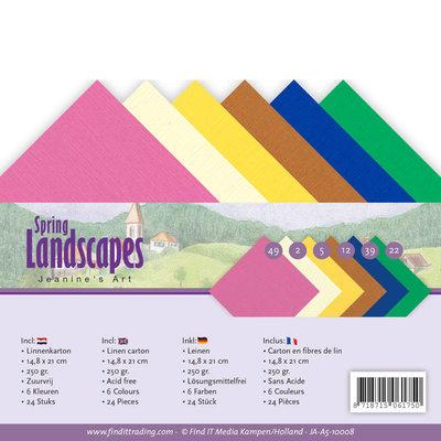 JA-A5-10008 Linnenpakket - A5 - Jeanines Art - Spring Landscapes