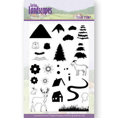 JACS10026 Clear Stamps - Jeanines Art- Spring Landscapes Mountains