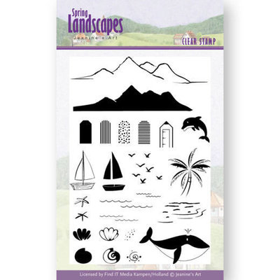 JACS10027 Clear Stamps - Jeanines Art- Spring Landscapes Sea