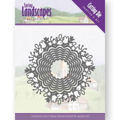JAD10064 Dies - Jeanine's Art - Spring Landscapes - Spring Scalloped Circle