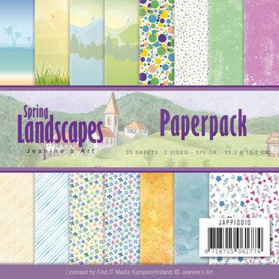 JAPP10010 Paperpack - Jeanines Art - Spring Landscapes