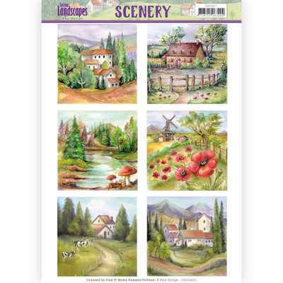 CDS10011 Die Cut Topper - Scenery  Amy Design - Spring Landscapes 2