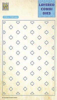 Nellie's Choice Layered Combi Die ovaal pasen laag C LCDE003 106x150mm