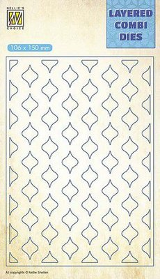 Nellie's Choice Layered Combi Die ovaal pasen laag B LCDE002 106x150mm