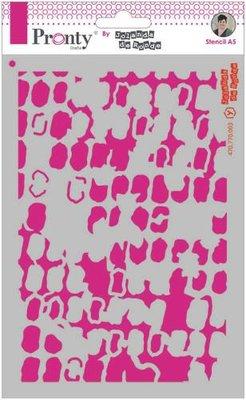 Pronty Mask stencil A5 Grunge Squares 470.770.003 by Jolanda