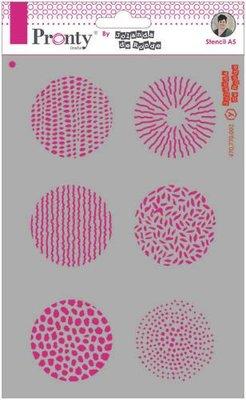 Pronty Mask stencil A5 Grunge Circles 470.770.002 by Jolanda