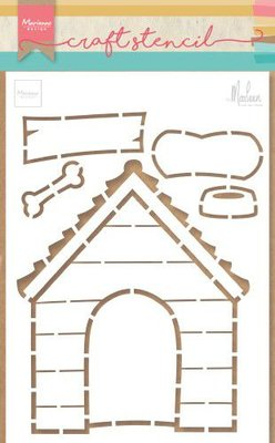 Marianne D Stencil Doghouse by Marleen PS8030 149x210mm