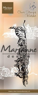 Marianne D Clear Stamps Tiny's Border - kittens TC0873 130x40mm