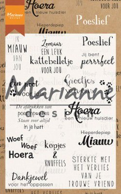 Marianne D Clear Stamps Poeslief (NL) CS1023