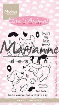 Marianne D Clear Stamp Eline's cute animals - puppies EC0177