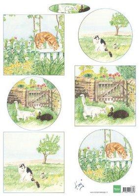 Marianne D Decoupage Tiny's katten IT609 A4