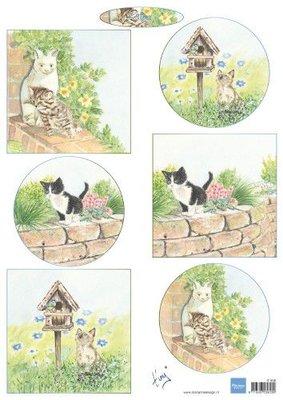 Marianne D Decoupage Tiny's kittens IT608 A4