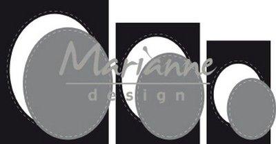 Marianne D Craftable Basic passe-partouts Ovalen CR1467 82x102mm