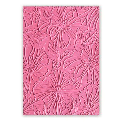 Sizzix  3-D Text. Impr. Emb. Folder - Azaleas 663601 Courtney Chilson