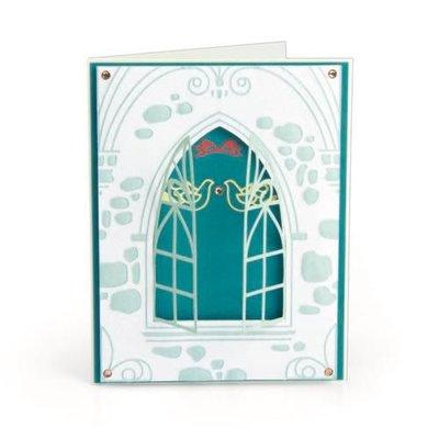 Sizzix 3-D Impresslits Embossing Folder - Wedding Window 663600 Katelyn Lizardi