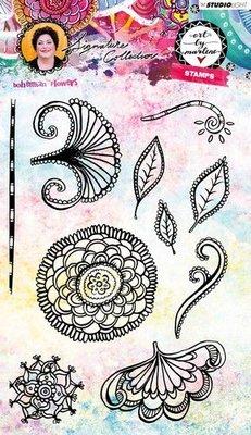 Studio Light Stamp Bohemian Flowers Art By Marlene 3.0 nr.35 STAMPBM35