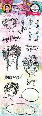 Studio Light Stamp Girl Talk Art By Marlene 3.0 nr.33 STAMPBM33
