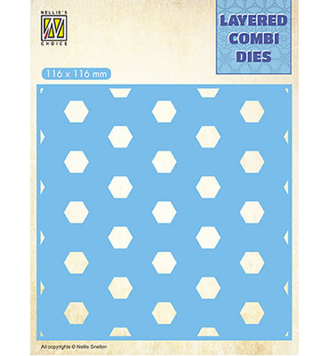 LCDH003 - Nellie's Choice - Square Honeycomb - Layer C - 116x116mm