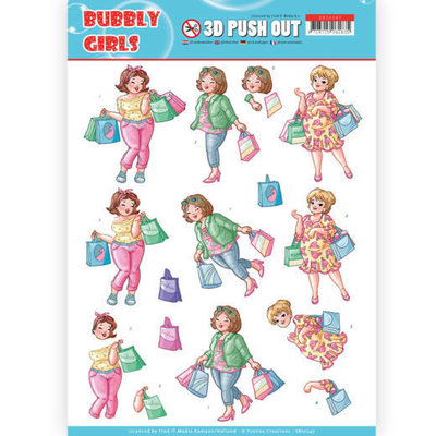 SB10347 3D Pushout - Yvonne Creations- Bubbly Girls - Shopping