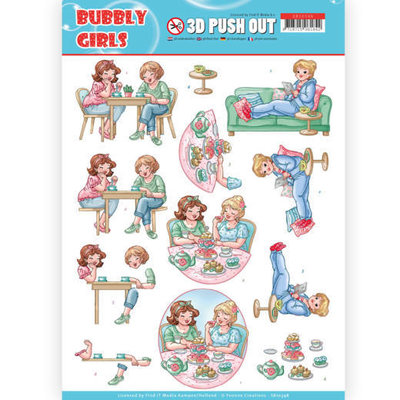 SB10348 3D Pushout - Yvonne Creations- Bubbly Girls - Me Time