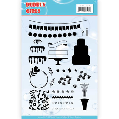 YCCS10049 Clear Stamps - Yvonne Creations - Bubbly Girls