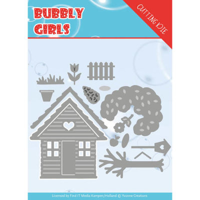 YCD10169 Dies - Yvonne Creations - Bubbly girls- In the Garden – ca. 11,7 x 10,3 cm