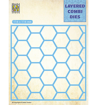 LCDH001 - Nellie's Choice - Square Honeycomb - Layer A - 116x116mm