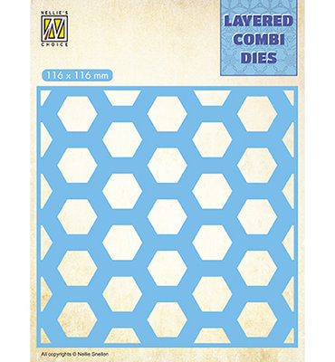 LCDH002 - Nellie's Choice - Square Honeycomb - Layer B - 116x116mm