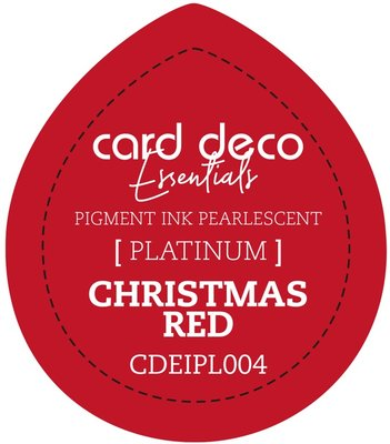 Card Deco Essentials Fast-Drying Pigment Ink Pearlescent Christmas Red