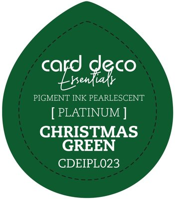 Card Deco Essentials Fast-Drying Pigment Ink Pearlescent Christmas Green