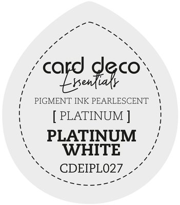 Card Deco Essentials Fast-Drying Pigment Ink Pearlescent Platinum White