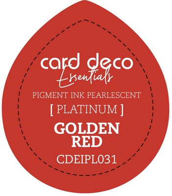 Card Deco Essentials Fast-Drying Pigment Ink Pearlescent Golden Red